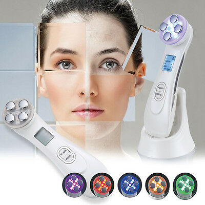 Photon LED Mesotherapy RF Radio Skin Facial Clean Acne Therapy Beauty Machine 5V