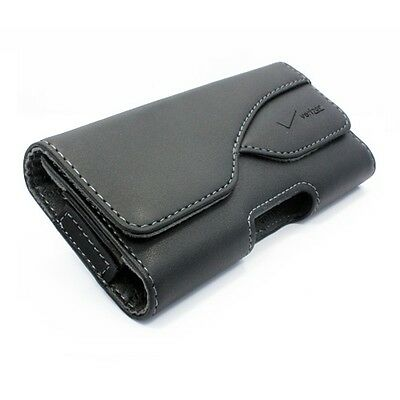 For VERIZON PHONES - OEM LEATHER POUCH SIDE CASE COVER HOLSTER SWIVEL BELT CLIP