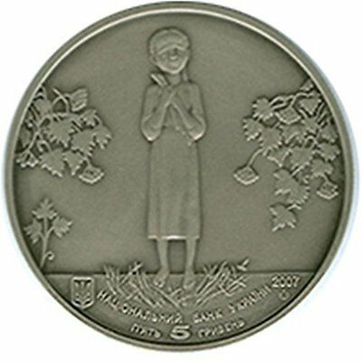 Ukraine 5 Hryven 2007  The Famine, Genocide of the Ukranian People Coin