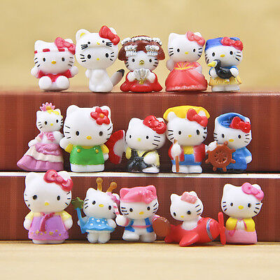 16pcs Hello Kitty Japan Anime Cute Mini Figures Collection Decoration Toy Gift