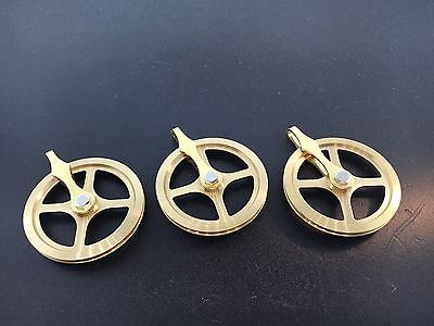 Grandfather Clock Weight Pulley Set of 3 High Quality German Made