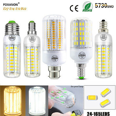 E27 E14 E12 B22 LED Corn Bulb 5730 SMD Spotlight Corn 20W -150W Lamp AC110 220V