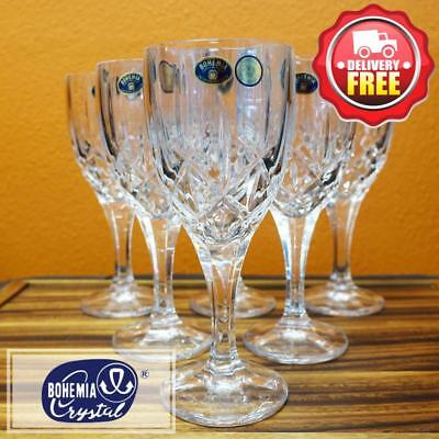 Bohemia Crystal (030.008) Sheffield Wine Glass Goblet 330ml 6pcs