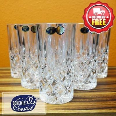 Bohemia Crystal Sheffield High Ball Tumblers 380ml 6pcs Beer & Cocktail Glas