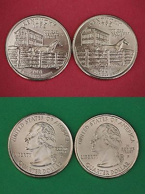 2001 D P Kentucky State Quarters From Uncirculated Mint Sets Buy 4 Get 1 FREE