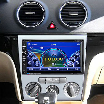 "HD 7"" Touch Bluetooth 2 Din Car Stereo CD DVD Player USB/SD AM/FM/AUX Radio iPod"
