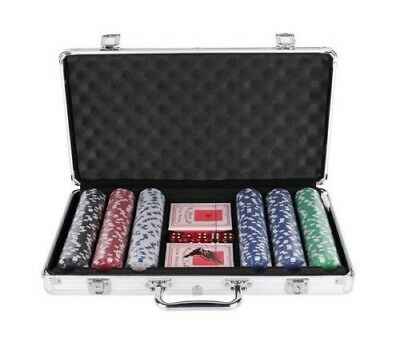300 Piece Poker Game Set with ALUMINIUM CASE 11.5g - Casino Weighed Chips