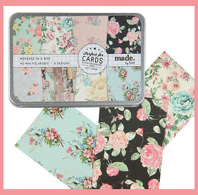 Cotton On Vintage style Floral Mini message gift Card 8 design 40 cards in box