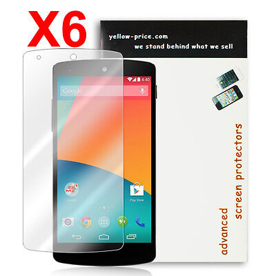 NEW 2014 Ultra Thin Crystal Clear Screen Protector for Google Nexus 5 -6 Pack HD
