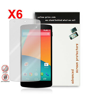 NEW 2014 Anti-Glare Matte Screen Protector for Google Nexus 5 - 6 Pack