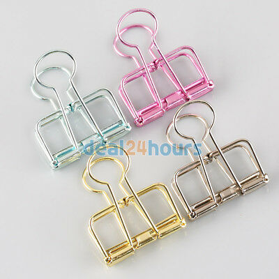 3 Pcs Hollow Metal Binder Clips Paper Documents Clip Office School Supplies Gift