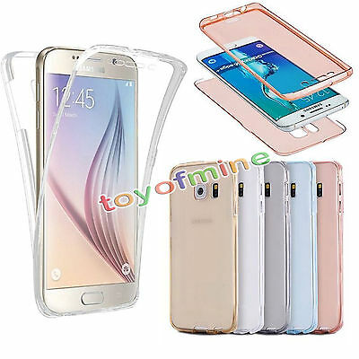 Shockproof 360° Protective Clear Gel Ultra Slim Case Cover For Samsung Galaxy