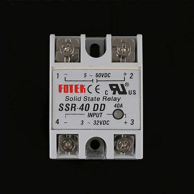 Output 24-380V 40A SSR 40DD Solid State Relay Single Phase Module DC-DC