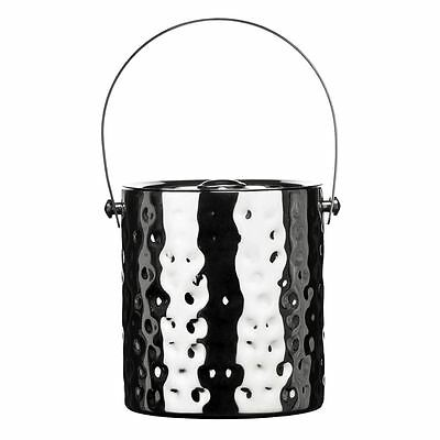 Ice Bucket, Hammered Effect Stainless Steel, Lid/Handle