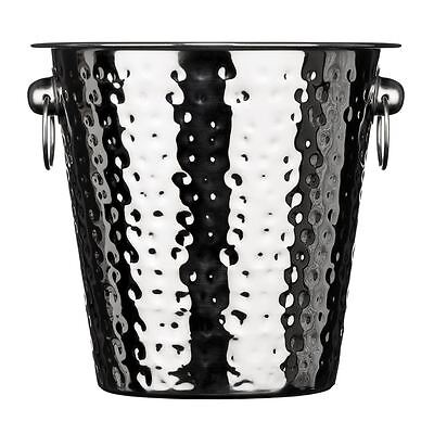 Champagne/Wine Bucket, Hammered Effect Stainless Steel