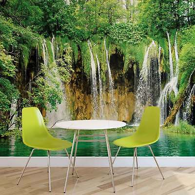 WALL MURAL PHOTO WALLPAPER XXL Waterfalls Lake Forest Nature (1923WS)