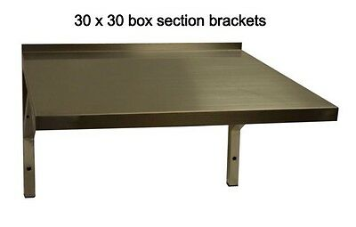 NEW Stainless Steel Microwave Shelf or Machine Wall Shelf  550w X 500d
