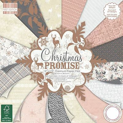 Premium Craft First Edition 12x12 Christmas Promise Scrapbook Paper Pad