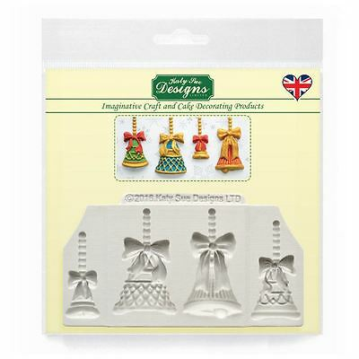 Cupcake Fondant Icing Sugar Paste Embellishment Topper Mould: Christmas Bells