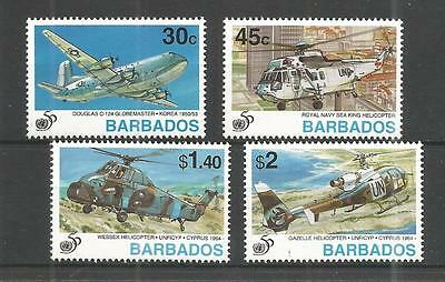 Barbados 1995 50 Years Of U.n Sg,1058-1061 Um/m Nh Lot 373A