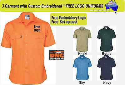 3 Custom DNC Work Uniforms with Your Embroidered * FREE YOUR LOGO* 327