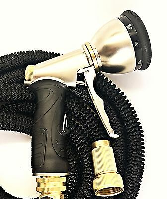 Deluxe 25 50 75 100 Ft 3X Durable Expandable Flexible Garden Hose and Sprayer