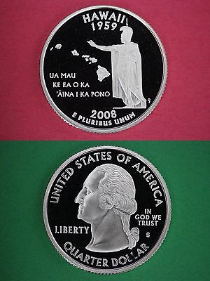 2008 S Proof Hawaii State Quarter Clad Deep Cameo Buy 4 Get 1 FREE