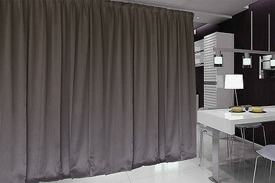 Blockout Curtain 267x230cm PINCH PLEAT 1 panel Blackout High Level Fabric