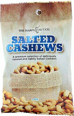 3 x 70g The Happy Nut Company Salted Cashew Bag