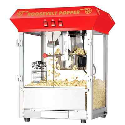 Popcorn Roosevelt Top Antique Style Popcorn Popper Machine Maker 8 Ounce, New