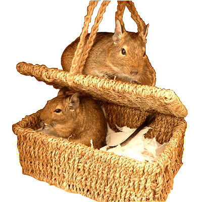 ChewBasket - Small Pet bed Nesting box for Degu's Rats