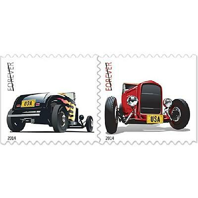Hot Rod Stamps Booklet of 20 x Forever U.S. Postage Stamps USPS NEW, New, Free S