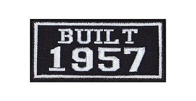 Built 1957 Biker Patches Year of Birth Construction Number Motorcycle MC Badge