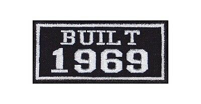 Built 1969 Biker Patches Year of Birth Construction Number Motorcycle MC Badge