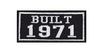 Built 1971 Biker Patches Year of Birth Construction Number Motorcycle MC Badge