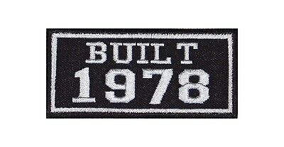 Built 1978 Biker Patches Year of Birth Construction Number Motorcycle MC Badge