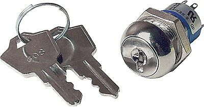 Dpdt Short Barrel Key Switch Small Bitted Key