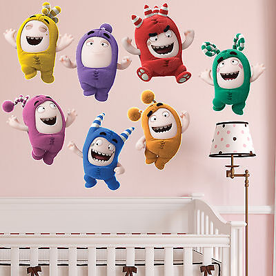 Oddbods Kids Boy Girls Bedroom Vinyl Color Wall Decal Art Sticker Gift New