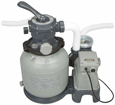 Intex Krystal Clear Sand Filter Pump for Above Ground Pools, 2100 GPH Pump Fl...