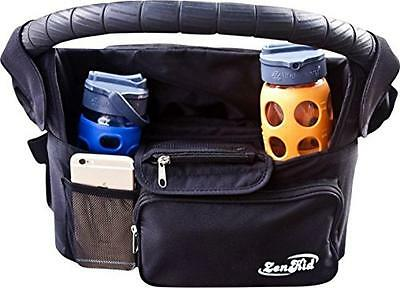 #1 Stroller Organizer - Stroller Accessory, Universal Cup Holder & Handle Bag -