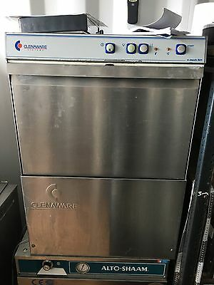 Clenaware Commercial Glasswasher restaurant Dish Washer. Pump Drain 500mm Basket