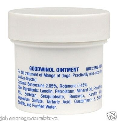 Goodwinol Ointment  For demodectic mange and follicular mange of dogs 1 oz