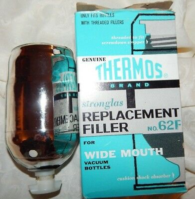 Vintage Genuine THERMOS brand Stronglas REPLACEMENT FILLER no. 62F Wide Mouth