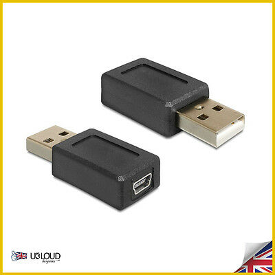 Mini USB Connector 2.0 Type A Male Converter to 5Pin B Female Adapter Cable