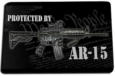We The People 2nd Amendment Protected by AR-15 Door Mat Rug