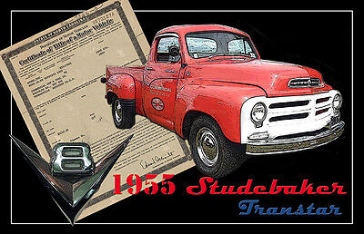 1955 Studebaker and An Original Old Title Two 11x17 Posters