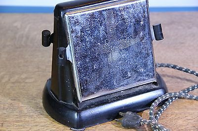 Antique Toaster A-Frame Style Sterling AEUJ with drop down panels, original cord