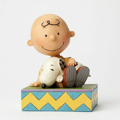 THE PEANUTS Scultura CON SNOOPY CHARLIE BROWN Figura Jim Shore 4049397 - NUOVO