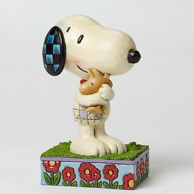 "THE PEANUTS Scultura - ""SNOOPY & WOODSTOCK"" - Figura Jim Shore 4042377 - NUOVO"