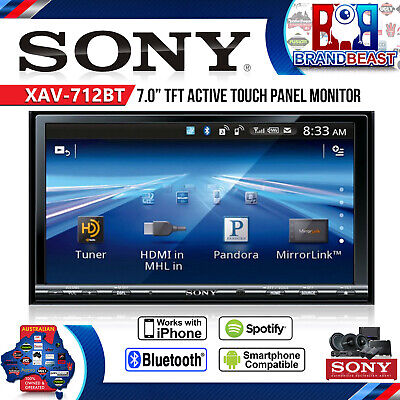 "Sony Xav-712bt 7"" Double Din Monitor Cd Mp3 Usb Mirrorlink Blueto- Free Shipping"